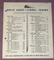 1946 Lionel Price Sheet (7)
