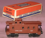 6017 Lionel Lines Caboose: Painted Brown (8+/OB)