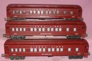 2625, 2627 & 2628 Lionel Lines Passenger Set (Restored)