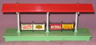 156 Platform Station; Baby Ruth, Sunoco Dynafuel, Rival & Lionel Chem Labs (7+)