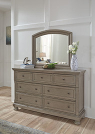 Ashley Lettner Light Gray Dresser