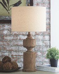 Ashley Madelief Brown Poly Table Lamp (1/CN)