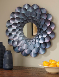 Ashley Deunoro Blue Accent Mirror