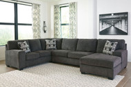 Ashley Ballinasloe Smoke LAF Sofa/Couch, Armless Loveseat & RAF Corner Chaise Sectional
