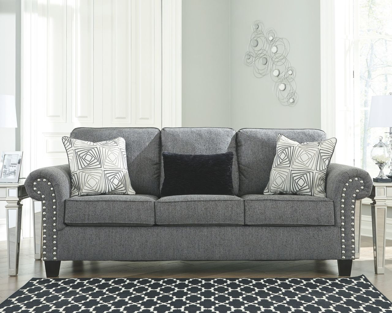 Awesome Ashley Agleno Charcoal Sofa Couch Gmtry Best Dining Table And Chair Ideas Images Gmtryco