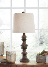 Ashley Magaly Brown Poly Table Lamp (2/CN)
