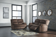 Ashley Bolzano Coffee 2 Seat Reclining Sofa/Couch & Reclining Loveseat