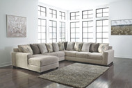 Ashley Ardsley Pewter LAF Corner Chaise, Armless Loveseat, Wedge & RAF Sofa/Couch Sectional