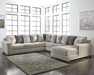 Ashley Ardsley Pewter LAF Sofa/Couch, Wedge, Armless Loveseat & RAF Corner Chaise Sectional
