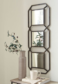 Ashley Savane Antique Gold Finish Accent Mirror