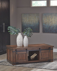 Ashley Budmore Brown Rectangular Cocktail Table