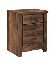 Ashley Quinden Dark Brown Two Drawer Night Stand