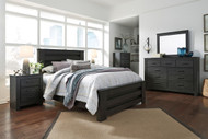 Ashley Brinxton 4 Pc. Bedroom Set – Dresser, Mirror, Queen Bed, and Nightstand