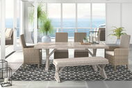 Ashley Beachcroft Beige Dining Set with Bench & Chairs