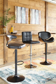 Ashley Adjustable Height Barstools Tall Upholstered Swivel Barstool ()