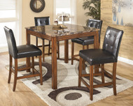 Ashley Theo Brown Square Counter Table Set