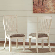 Ashley Bolanburg Antique White Dining Upholstered Side Chair