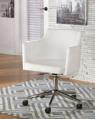 Ashley Baraga White Home Office Swivel Desk Chair