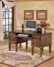 Ashley Hamlyn Medium Brown Home Office Storage Leg Desk
