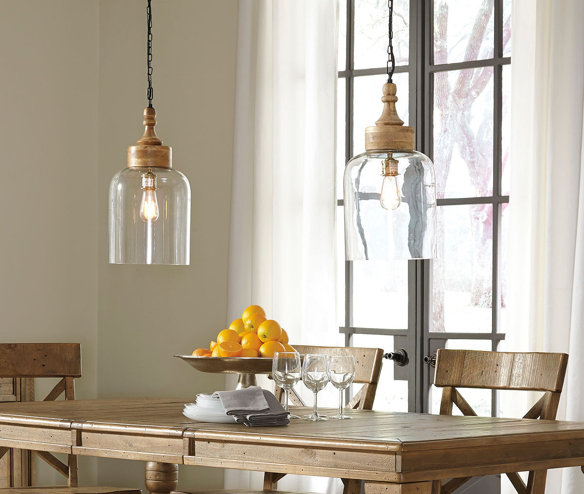 The Faiz Transparent Glass Pendant Light Sold At Spokane Furniture