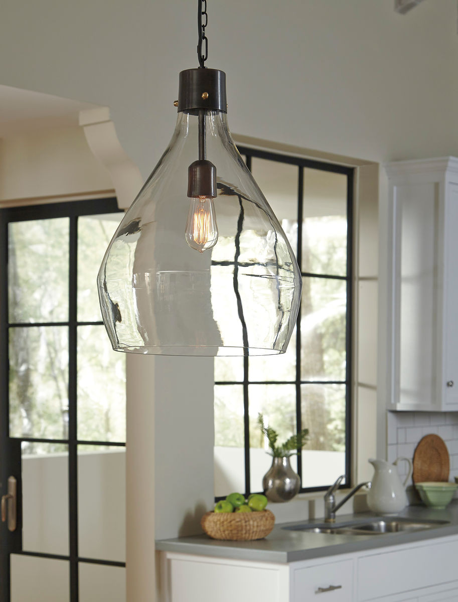 The Avalbane Cleargray Glass Pendant Light Sold At Spokane