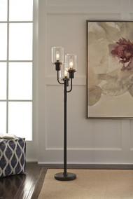 Ashley Jaak Bronze Finish Metal Floor Lamp