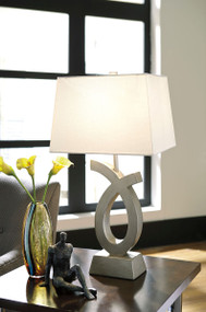 Ashley Amayeta Silver Finish Poly Table Lamp