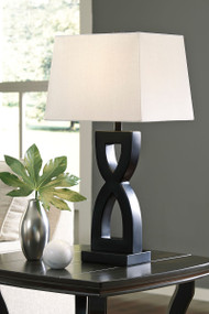 Ashley Amasai Black Poly Table Lamp