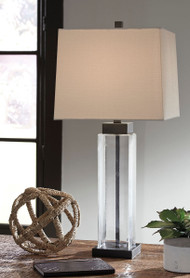 Ashley Alvaro Clear/Bronze Finish Glass Table Lamp