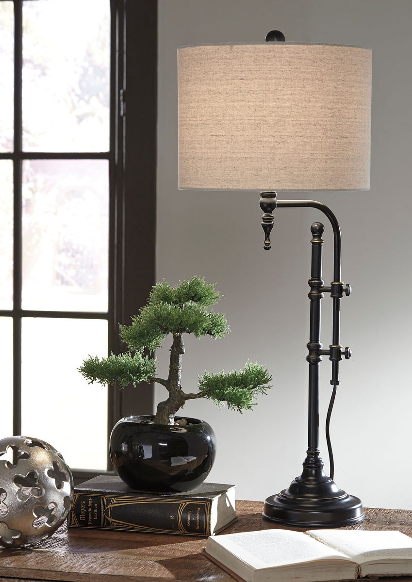 The Anemoon Black Metal Table Lamp Sold At Spokane Furniture Serving
