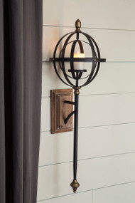 Ashley Dina Black/Gold Finish Wall Sconce