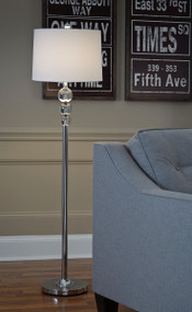 Ashley Joaquin Clear/Chrome Finish Crystal Floor Lamp (1/CN)