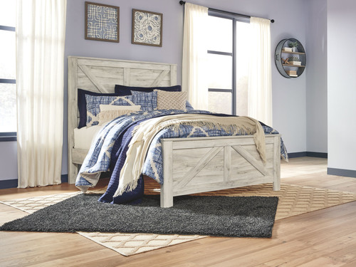 Ashley Bellaby Whitewash Queen Panel Bed On Sale At