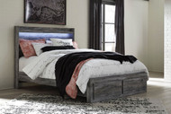 Ashley Baystorm Gray Queen Panel Bed with Footboard Storage