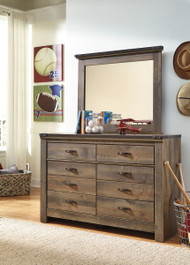 Ashley Trinell Brown Dresser & Mirror