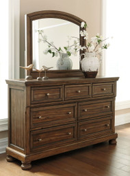 Ashley Flynnter Medium Brown Dresser & Mirror