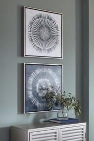 Ashley Monterey Blue/White Wall Art Set