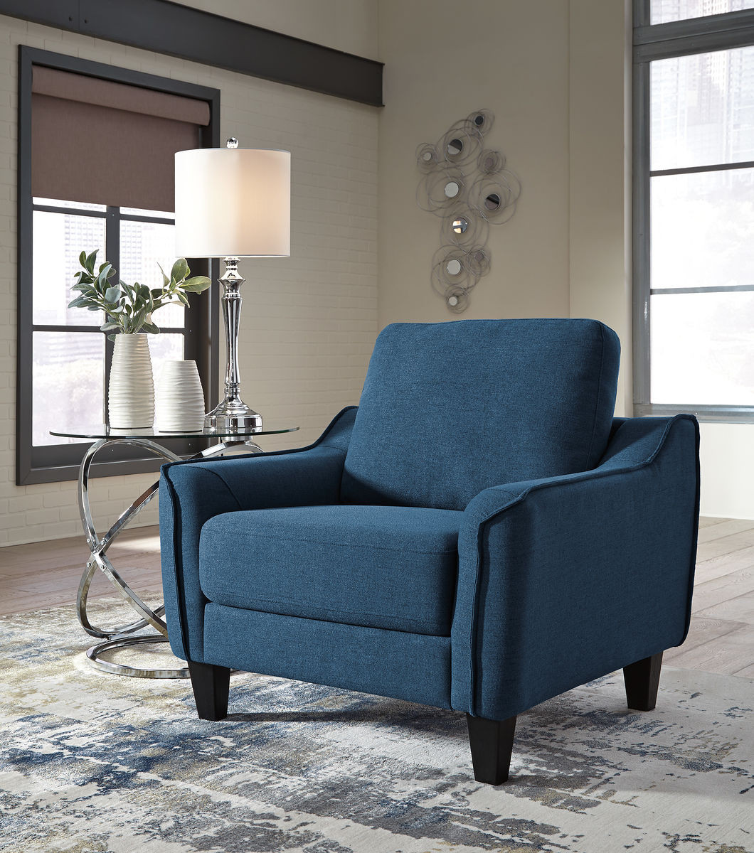The Jarreau Blue Chair Available At Spokane Furniture Serving