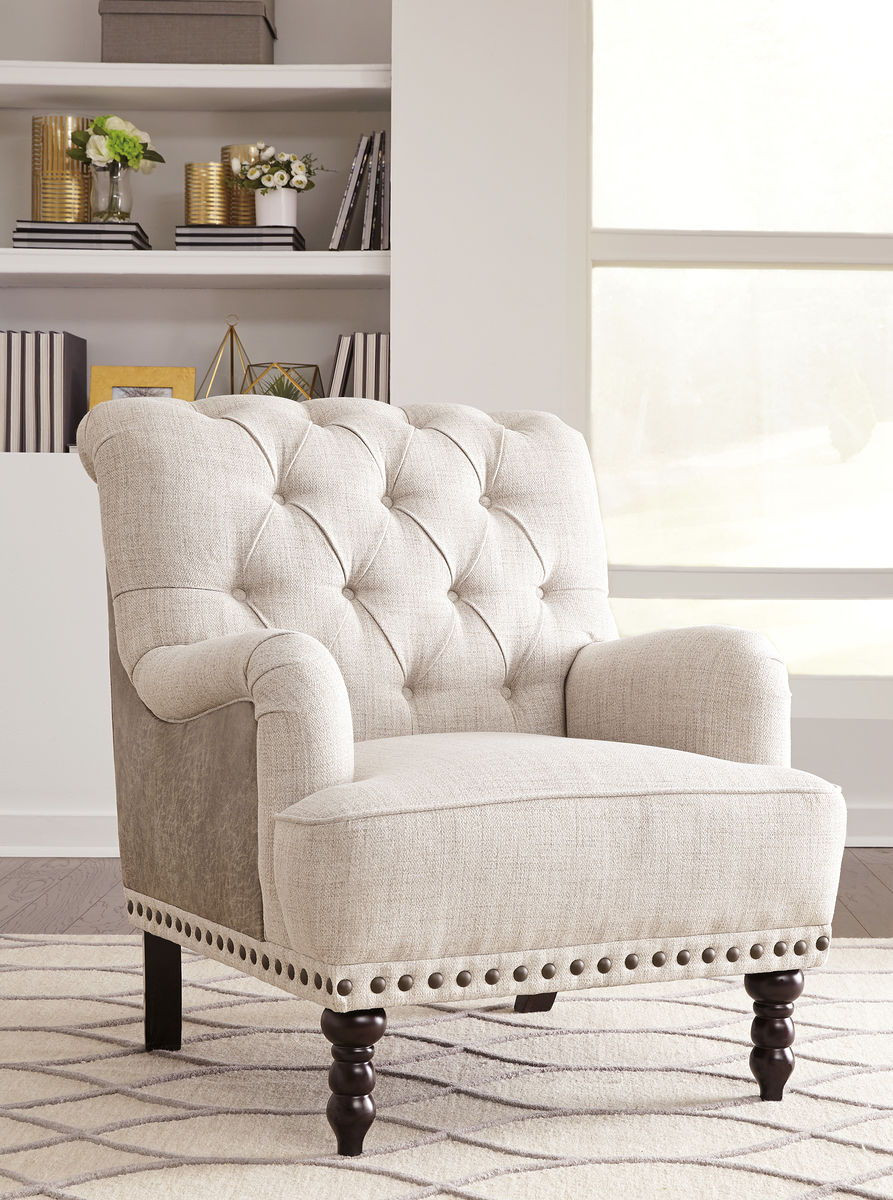 Taupe Accent Chairs.Ashley Tartonelle Ivory Taupe Accent Chair