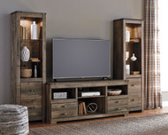 Ashley Trinell  Center Large TV Stand & 2 Tall Piers
