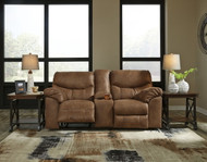 Ashley Boxberg Bark DBL Rec Loveseat w/Console