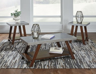 Ashley Bellenteen Brown/Silver Occasional Table Set (3/CN)
