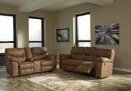 Ashley Boxberg Bark REC Power Sofa/Couch & DBL REC Power Loveseat with Console