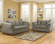 Ashley Darcy Cobblestone Sofa/Couch & Loveseat