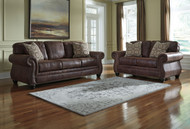 Ashley Breville Espresso Sofa/Couch & Loveseat
