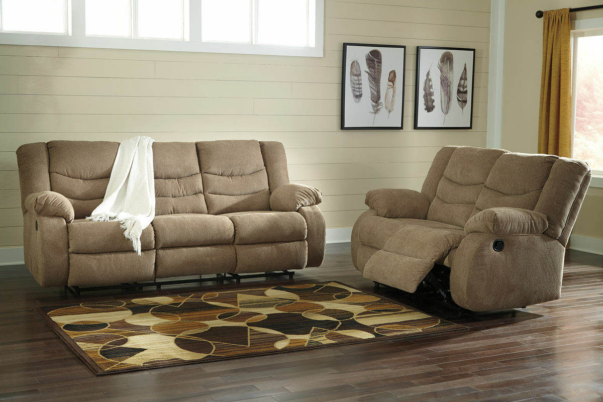 Terrific Ashley Tulen Mocha Reclining Sofa Couch Reclining Loveseat Gmtry Best Dining Table And Chair Ideas Images Gmtryco