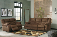 Ashley Tulen Chocolate Reclining Sofa/Couch & Reclining Loveseat