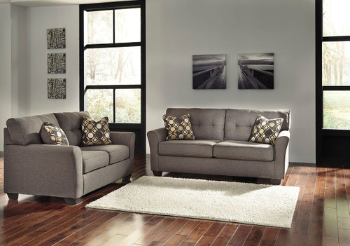 Ashley Tibbee Slate Sofa Couch Amp Loveseat On Sale At