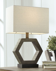 Ashley Marilu Gray/Brown Poly Table Lamp (1/CN)