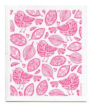 Swedish dishcloth Robins Pink